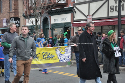 Members of Newton's Town Council march down Spring Street. Photo by Jennifer Jean Miller.