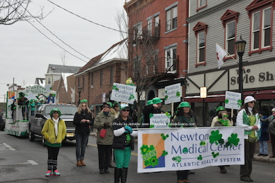 Newton Medical Center employees dressed in St. Patrick's attire for the parade. Photo by Jennifer Jean Miller.