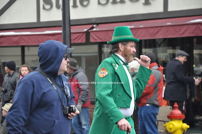 A leprechaun has his place in the parade. Photo by Jennifer Jean Miller.