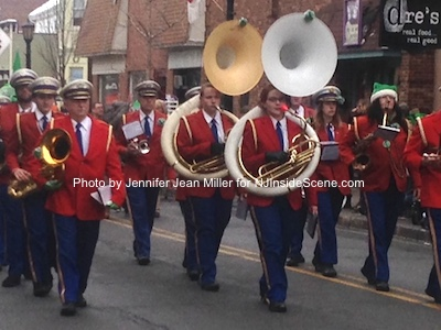 The Franklin Band carries musical cheer to Spring Street. Photo by Jennifer Jean Miller.