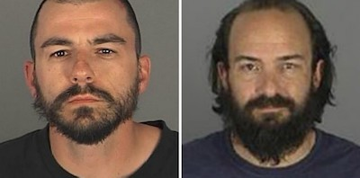 Mugshot for Kristopher Dohm (left) and Edward Tarras (right).
