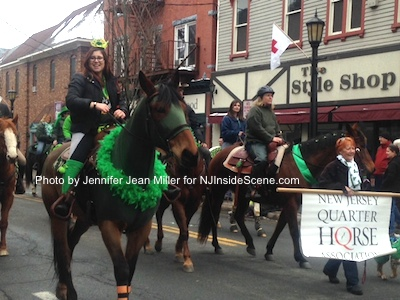 The NJ Quarter Horse Association galloped through town. Photo by Jennifer Jean Miller.