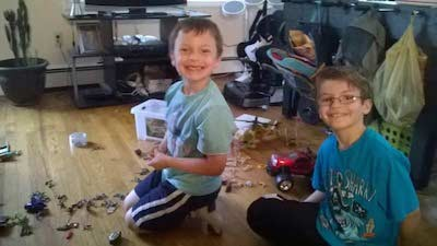 Jaxon (left) and Parker (right) Dohm, brothers whose father Kristopher Dohm took them from Hopatcong on Feb. 5. Image courtesy of the Sussex County Prosecutor's Office.