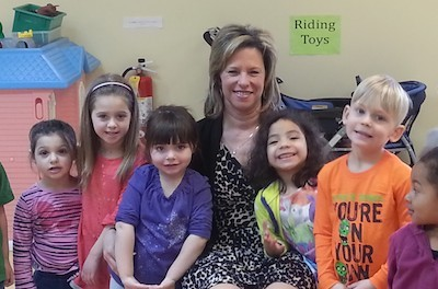 Tammie Horsfield, President of the Sussex County Chamber of Commerce, recently paid a visit to the Little Sprouts Early Learning Center. Courtesy of Project Self-Sufficiency.