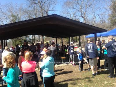 Attendees enjoying the pavilion at Swartswood State Park. Photo by Jennifer Jean Miller.