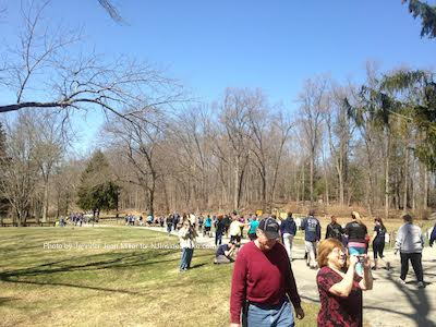Runners and walkers make their way through Swartswood State Park. Photo by Jennifer Jean Miller.