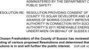 The Solar Project on the agenda for the Sussex County Freeholders on Oct. 26, 2011. Courtesy of the County of Sussex.
