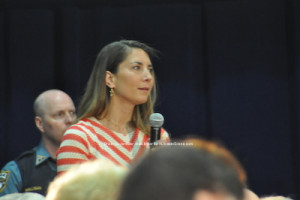 Alexandra Miller of Sparta asks the Governor a question. Photo by Jennifer Jean Miller.