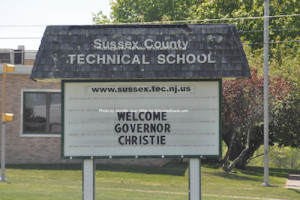 Welcome sign at the Sussex County Technical School. Photo by Jennifer Jean Miller.