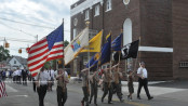 Veterans lead the parade in Newton. Photo by Jennifer Jean Miller.