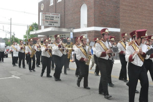 Newton High School's Marching Band. Photo by Jennifer Jean Miller.