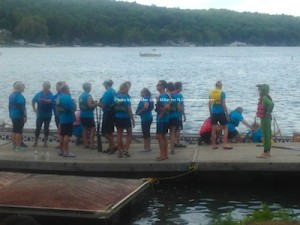 A team readies for their time in the water. Photo by Jennifer Jean Miller.