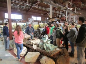 Bill Kroth teaches Venturing Crew 276 about mining and the importance of it. Image courtesy of Venturing Crew 276.