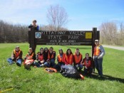 Group photo at Kittatinny State Park along our cleanup route (Andover Cleanup). Photo courtesy of Venturing Crew 276.