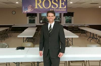 Sussex Borough Mayor Jonathan Rose at the fundraising event for his freeholder candidacy. Photo courtesy of Jon Rose.