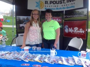 Jamie Johnson (left) and Deborah Poust Johnson (right) at the booth for R. Poust Inc. and Mr. Rooter (Editor's Note: Mr. Rooter is an advertiser on NJInsideScene.com). Photo by Jennifer Jean Miler.