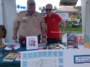 Boy Scouts of America, Patriot's Path Council Representatives Bill Zinky (District Director) and Jennifer Volz (Development Director), introduced visitors to scouting in Sussex County. Photo by Jennifer Jean Miller.