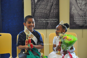 The 2015 Little Mr. Newton and Little Miss Newton, Rodolfo Sarmiento Romero and Zariah Moore. Photo by Jennifer Jean Miller.