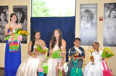 Miss Newton 2015 (left) Amelia Macchietto and from left to right first runner up Hannah Balatero, second runner up Addison Hillard, Little Mr. Newton Rodolfo Sarmiento Romero and Little Miss Newton Zariah Moore. Photo by Jennifer Jean Miller.