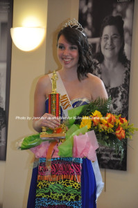 Amelia Macchietto smiles and poses for photos after the contest. Photo by Jennifer Jean Miller.