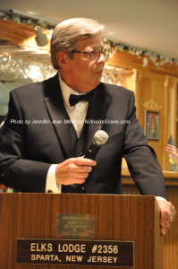 Bill Curcio at the podium during the dinner. Photo by Jennifer Jean Miller.
