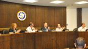The Newton Town Council during the meeting on June 22. Photo by Jennifer Jean Miller.
