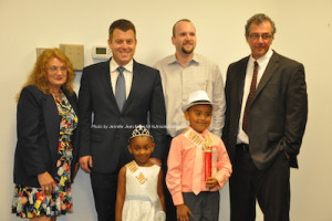 Little Miss Newton and Little Mr. Newton with council members. Photo by Jennifer Jean Miller.