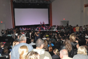 "The packed house at The Newton Theatre during ""The Rocky Horror Picture Show"" pre-party. Photo by Jennifer Jean Miller."