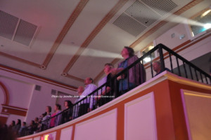 "Attendees in the balcony at ""The Rocky Horror Picture Show."" Photo by Jennifer Jean Miller."