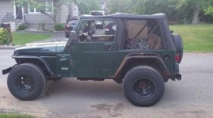The Jeep used in the incidents. Image courtesy of the Hopatcong Police Department.