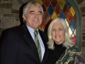 Mary Harrington (right) with husband Dennis, one of the volunteers at Ginnie's House. Photo courtesy of Ginnie's House.