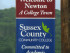 "Sussex County Community College and The Town of Newton - ""A College Town."" Photo courtesy of SCCC."