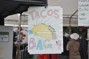 """Tacos in a Bag"" was a carnival offering. Photo by Jennifer Jean Miller."