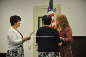 Sandra Diglio sworn in as deputy mayor. Photo by Jennifer Jean Miller.