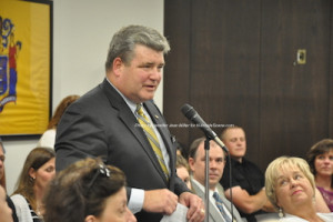 Senator Steve Oroho (R-24) compliments the Newton Town Council. Photo by Jennifer Jean Miller.