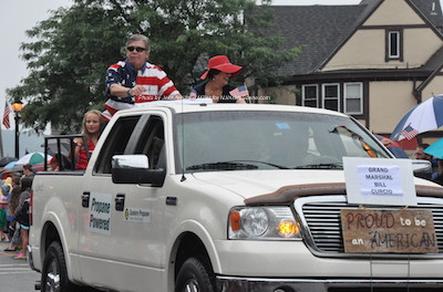 William Curcio the grand marshal for the parade. Photo by Jennifer Jean Miller.