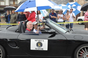 Mayor Jerry Murphy in the parade. Photo by Jennifer Jean Miller.
