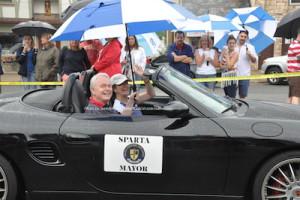 Mayor Jerry Murphy in the parade. Photo by Jennifer Jean Miller.