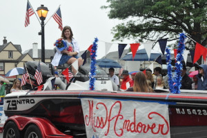 Miss Andover in the parade. Photo by Jennifer Jean Miller.