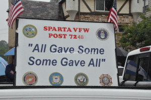 Sign for the Sparta VFW. Photo by Jennifer Jean Miller.