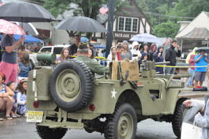 A military jeep in the parade. Photo by Jennifer Jean Miller.