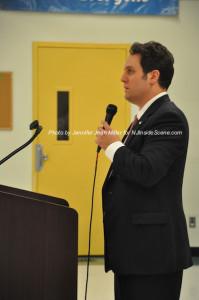 Donald Ploetner speaks to the group. Photo by Jennifer Jean Miller.