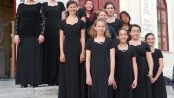 Members of the Children's Chorus of Sussex County are performing in the International Festival of the Aegean in Syros, Greece. Photo courtesy of the Children's Chorus of Sussex County.