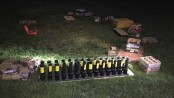 Sparta Police confiscated this array of illegal fireworks after a resident refused to listen to officers orders to dismantle it. Photo courtesy of the Sparta Police Department.