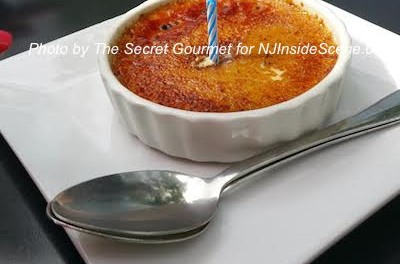 The Secret Gourmet enjoyed Crème Brûlée for a birthday celebration at the St. Moritz in Sparta. Photo by The Secret Gourmet.