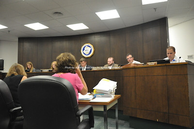 Newton's Town Council at the meeting on Aug. 24. Photo by Jennifer Jean Miller.