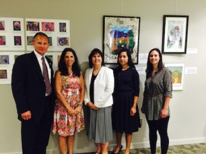 L to R: NJ DEA agent, Christopher A. Jakim, CFPC Prevention Specialist, Annmarie Shafer, Executive Director CFPC, Becky Carlson, DEA Coordinator, Jessica Gonzalez and young adult in recovery, Katie Calvacca. Center for Prevention and Counseling Photo.