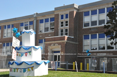 The Franklin Borough School on the day of its 100th Birthday Celebration. Photo by Jennifer Jean Miller.