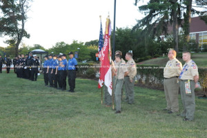 Boy Scout Troop 85, and the Sussex County Police Explorers at the event. Photo by Jennifer Jean Miller.