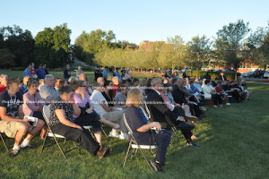 Attendees at the ceremony on Friday. Photo by Jennifer Jean Miller.